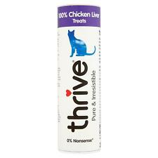 thrive Cat 100% Chicken Liver Treats Snacks Tube 25g - Real Natural Freeze Dried