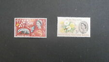 1963 2 mint United Kingdom stamps -  National Nature Week - 3d & 4.5d