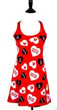MLB Boston Red Sox Sideline Apparel Genuine Merchandise~Hearts Nightie Womens M