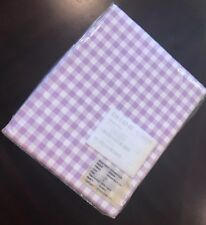 The Company Store Gingham Percale Twin Flat Sheet In Lilac Purple New
