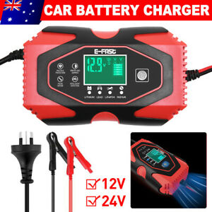24V 12V Car Battery Charger For Lead-acid AGM&GEL Lithium LiFePO4 Battery Repair