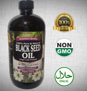100% Pure Black Seed Oil Edible Cold Pressed Cumin Nigella Sativa Non GMO