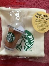 Starbucks JAPAN Mini Cup Gift Set w/ Matching Pouch / Bag - No Card