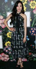 Erdem X H&M Black Floral Lace Bow Midi Dress *Sold Out* UK Size 6 EU 32