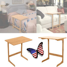 L Shape Tv Tray Laptop Desk Removable Console Side Snack End Table Wood Color Us