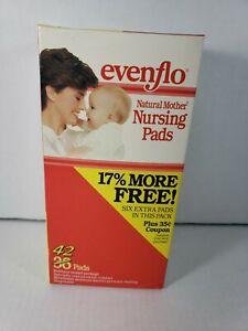 42 Count evenflo Natural Mother Disposal Nursing Pads Vintage1992 New Old Stock