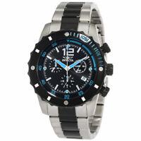 Invicta 1247 Men's Chrono Two Tone Bracelet Black Dial Date Watch