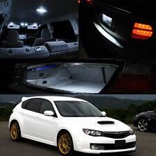 04-11 Subaru Impreza WRX STI Interior Xenon White LED Bulb Full Package (QTY X6)