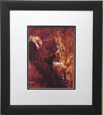 "LeRoy Neiman ""Gerry Mulligan"" Newly CUSTOM FRAMED Art Print  Jazz Festival Music"