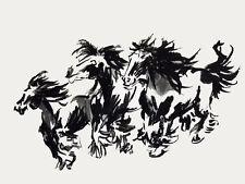 Brush Painting Gypsy Horses 3 ~ Gypsy Vanner , Cob cards