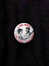 I LOVE MIckey Mantle 1.75 pin pinback New York NY Yankees repro Teresa Brewer