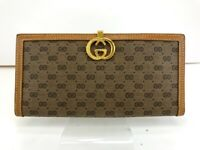 Auth GUCCI GG LOGO Canvas Leather Bifold Wallet Purse Italy Old Gucci 56410499