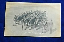Rppc- 5th Co. C.A.C. April 27, 1907 In Full Gear on the Shore