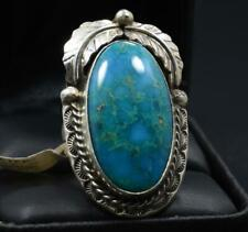 + Blue Ridge Turquoise, Betta Lee Navajo Handmade Sterling Silver Blossom Ring