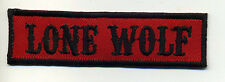 Lone Wolf patch badge car club motorcycle biker MC vest jacket red black