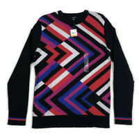 Alfani Mens Sweater Pullover Pattern Print Black Pink Red Variety Sizes