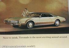 1967 Oldsmobile advertisement page, Oldsmobile Toronado, Olds, lady in mink coat
