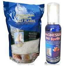 Magnesium Chloride Salt 1Kg (Food Grade) & Magnesium Oil 125ml. No Mercury. No L