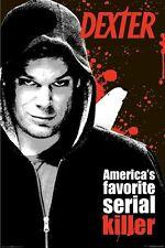 DEXTER ~ AMERICA'S FAVORITE SERIAL KILLER 24x36 TV POSTER Michael Hall Showtime