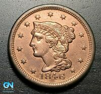 1846 Braided Hair Large Cent --  MAKE US AN OFFER!  #B3441