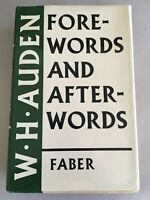 FOREWORDS AND AFTERWORDS by W.H. AUDEN 1st U.K. Faber 1973 hardcover