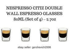 BRAND NEW NESPRESSO CITIZ DOUBLE WALL ESPRESSO GLASSES  80ML (Set of 4) – 2.7oz