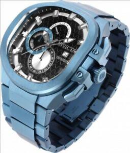 Invicta Shaq Limited Edition Curved Faded Denim Blue Plated Cuadro Chrono Watch