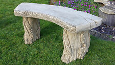 reconstituted stone bench (concrete),curved woodland design,garden seat