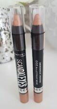 RIMMEL SCANDALEYES WATERPROOF EYESHADOW STICK DUO 002 BULLET PROOF BEIGE x2