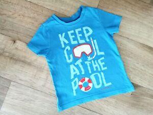 * ESPRIT * COOLES - T - Shirt -  Jungen - Gr. 92 / 98 - blau - TOP ZUSTAND!