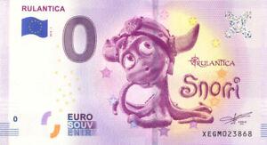 ALLEMAGNE Rust, Rulantica, Snorri, 2019, Billet Euro Souvenir