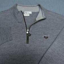 Peter Millar 1/4 Zip Wool Silk Golf Sweater-Xl-Cherry Hills !-Perfect!-