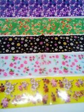 5 Nail Art Foils Spring And Summer Flowers New.        A6