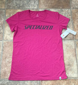 SPECIALIZED - WOMENS - CYCLING TOP - COTTON TSHIRT - PINK - 14 16 XL - NEW BNWT