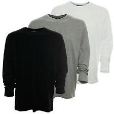 Y1509 Kitaro Herren Langarm Shirt Rundhals mit Knopfleiste L, Grau
