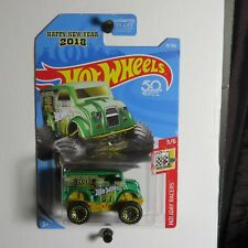 🌟 HOT WHEELS 50TH ANNIVERSARY MONSTER DAIRY DELIVERY, HAPPY NEW YEAR 2018, #76