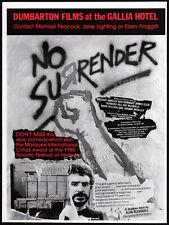 NO SURRENDER__Original 1985 Trade Print AD film promo / poster__MICHAEL ANGELIS