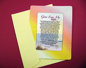 """Gone From My Sight"" Memorial Poem - Keepsake Enclosed Verse Card - Sku# 813"