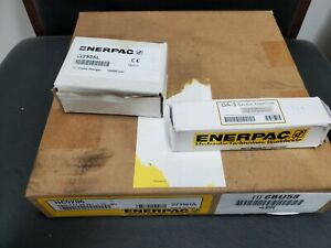 Enerpac P-392 2 Speed Hydraulic Hand Pump with gauge, hose and gauge adaptor.