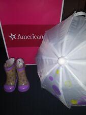 American girl MCKENNA ~ RAIN GEAR ~ EXCELLENT CONDITION ~ ORIGINAL BOX