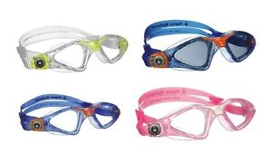 AQUA SPHERE Kayenne Junior Swimming Goggles + Caps Child kids Swim pool goggles