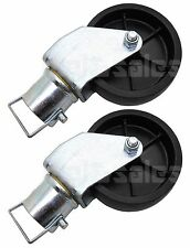 """(Lot of 2) 12000lbs 6"""" Trailer Swirl Jack Caster Wheel w/ Safety Pin Boat Hitch"""