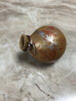 Vintage Native American Hand painted Gourd Art Vase Beads Miniature