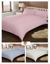 Flannelette Thermal 100% Brushed Cotton Duvet Quilt Cover Set with Pillowcases