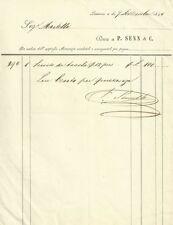Conto Servito Tavola 12 Persone Ditta P. Senn & C. Sig. Martelli Livorno 1844