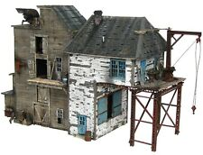 HO Hon3 Scale Custom Built Weathered Industrial Factory Scratch Building Diorama