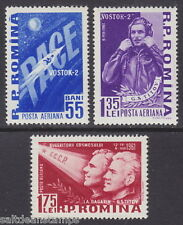 ROMANIA - 1961 AIR Second Soviet Space Flight (3v*) - UM / MNH