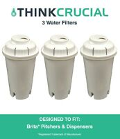 3 Replacements Pitchers & Dispensers Brita Water Filters