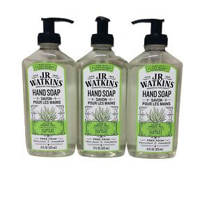 J.R. Watkins Aloe And Green Tea Scent Liquid Hand Soap 11 oz. (Pack of 3)