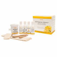 GIGI wax Microwave Hair Removal Kit: All Purpose Honnee, Créme Wax, Soy Natural
